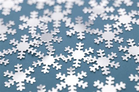 Model Home Decorations image of snowflakes on blue gray background for wallpapers