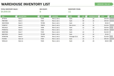 Free Excel Inventory Template Inventory Control Sheet Template Warehouse Stock Management Excel Free Excel Inventory Database Template