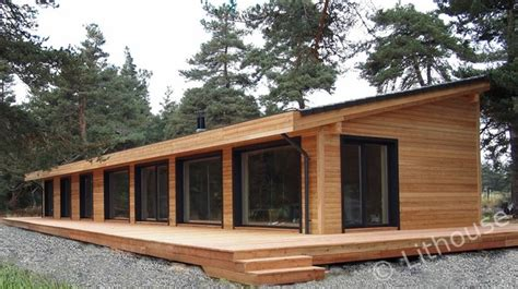 Wood House Plans by Flo Eric House Modern Extremely Well Insulated Eco