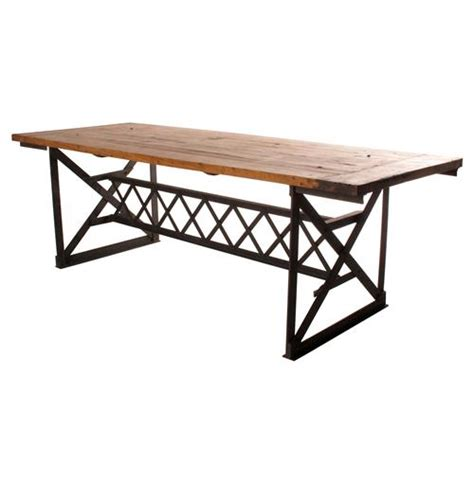 Chunky Wood Dining Table Riveter S Industrial Modern Chunky Wood Dining Table Kathy Kuo Home