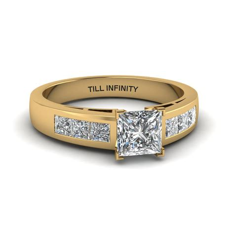 Engraved Solitaire Engagement Ring In 18k Yellow Gold by 18k Yellow Gold Engagement Rings Fascinating Diamonds