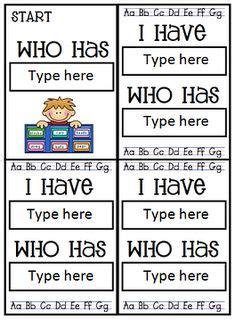 template for i who has cards 1000 images about education on preschool