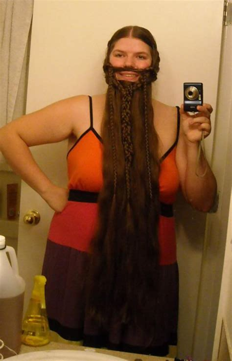 lady of braids 10 women who braided their hair into beards that make men