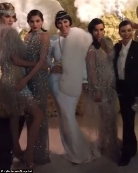 great gatsby themed dress code the kardashians take it back to the 1920s for kris jenner