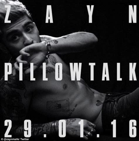 zayn malik shares shirtless pillowtalk promo image for his