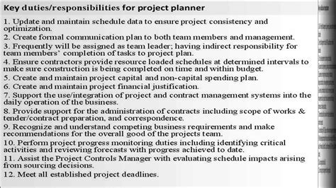 project planner job description youtube