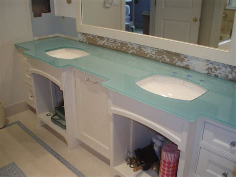 Glass Vanity Countertop by Glass Top Bathroom Vanity Top Glass Top Bathroom Vanity