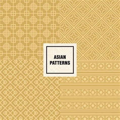 asian pattern ai yellow asian pattern design vector free download