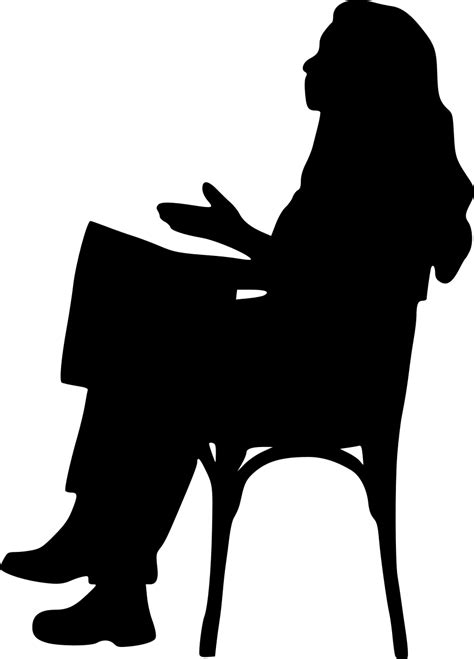 15 Sitting in Chair Silhouette (PNG Transparent) | OnlyGFX.com