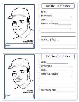 Jackie Robinson Graphic Biography jackie robinson baseball card by bookchick teachers pay