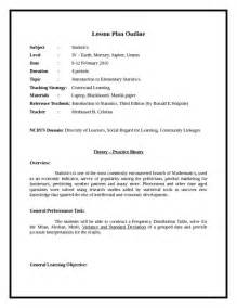 Plan Outline Format by Sle Lesson Plan Outline Pdfsr