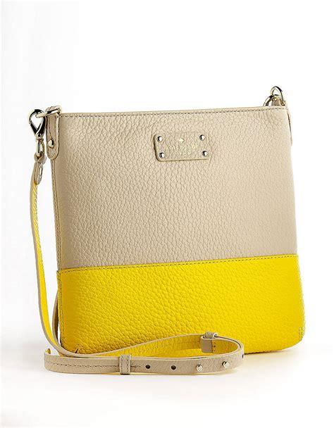 Katespade Cora Crossbody kate spade grove court cora leather crossbody bag in yellow lyst