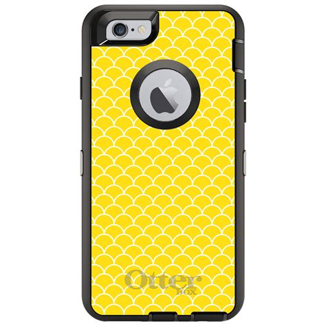 yellow pattern iphone case custom otterbox defender for iphone 6 6s 7 plus yellow