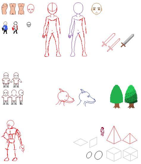 sprite template n00b sprite template sheet by chasz manequin on deviantart