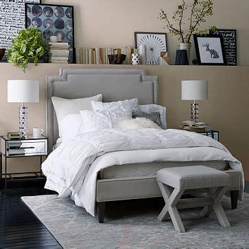 bassett schlafzimmer harlow upholstered bed performance velvet west elm
