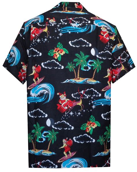 christmas themed clothing uk hawaiian shirt mens christmas santa claus party aloha