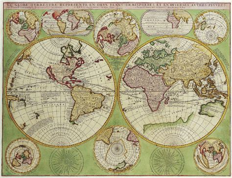 map of print large framed print hemisphere world map vintage