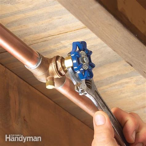 water valve under fixing a water shutoff valve leak the family handyman