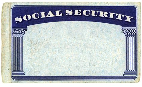 ss card template blank american social security card stock photo image of