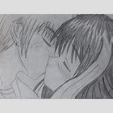 Kissing Couple Sketch   500 x 375 jpeg 26kB