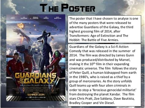 quills movie analysis guardians of the galaxy poster analysis