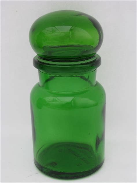 Glass Kitchen Canisters Airtight Retro Green Glass Kitchen Canisters Airtight Seal