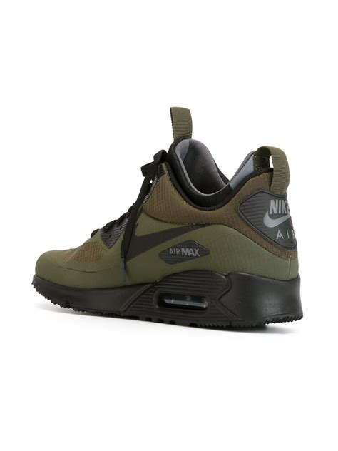 nike mens sneaker boots nike air max 90 mid winter sneaker boots in green for