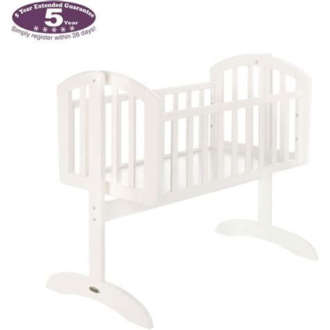 obaby sophie swinging crib buy obaby sophie swinging crib and mattress white at