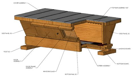 top bar beehive plans models picture