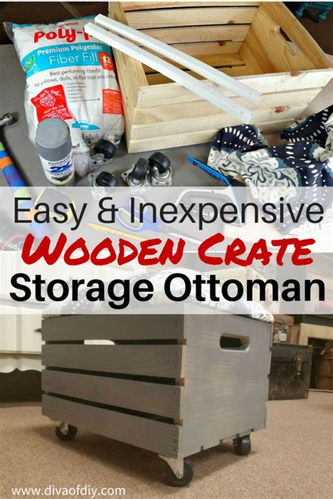 how to make a storage ottoman crate projects how to make a storage ottoman of diy