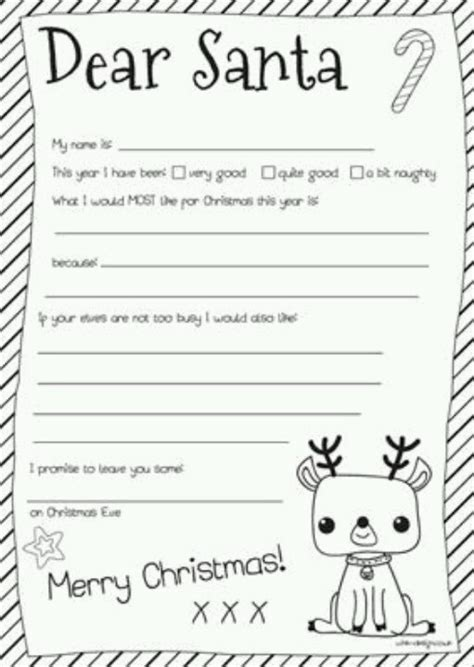 dear santa letter template free printable letter to santa with the rainy day