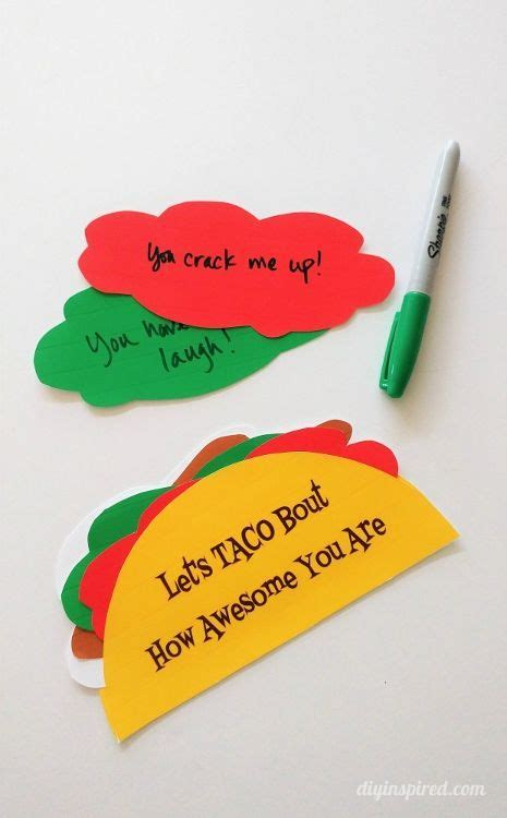 taco card template 183 best creative card ideas images on paper