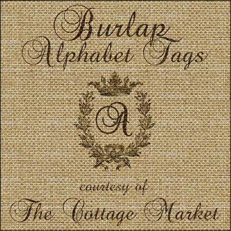 printable alphabet letter tags free printable burlap alphabet tag set a z the cottage