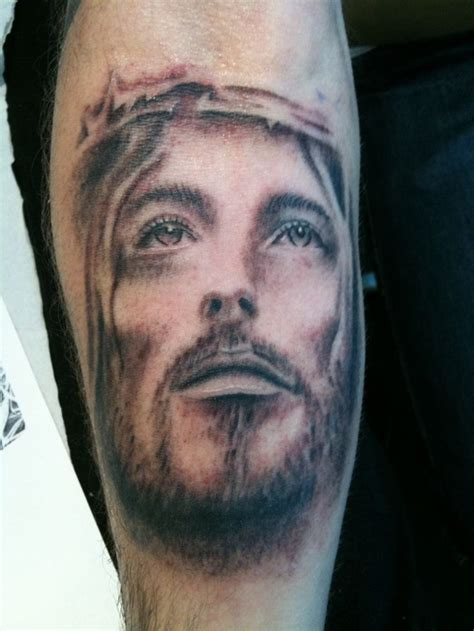 jesus tattoo in the bible tattoosso 187 realistic 3d jesus face tattoo on forearm