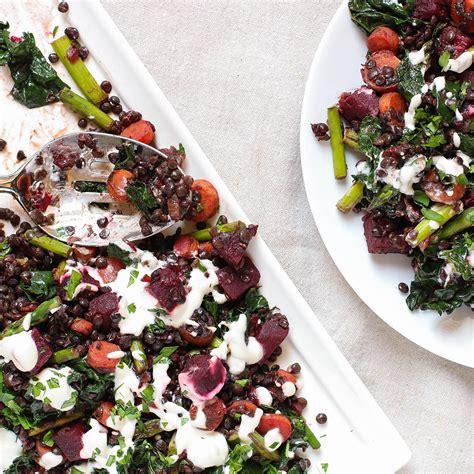 Asparagus Detox Salad by Warm Lentil Detox Salad With Beets Asparagus Kale The