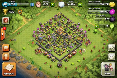 coc village layout level 8 town hall level 8 layout clash of clans tips and layouts
