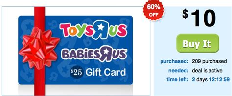 Can I Use A Toysrus Gift Card Online - hot 25 toys r us gift card just 10 hurry bucktown bargains