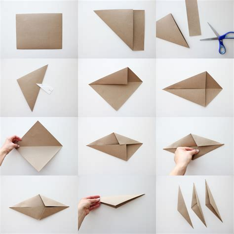Origami Bone - make it handmade almost origami ornament with
