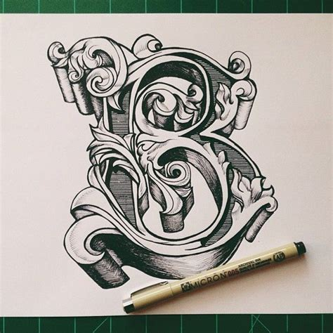 tattoo lettering reference typeverything com by david salinas ornate letter b