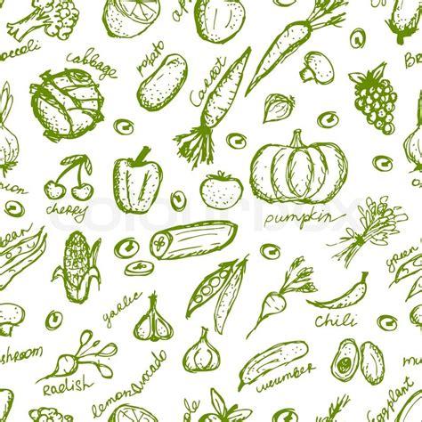 vegetables pattern wallpaper vegetable seamless pattern for your design stock vector