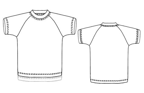 t shirt sewing template t shirt with raglan sleeves sewing pattern 7163 made