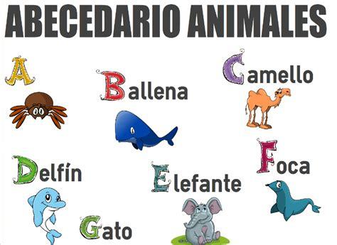 imagenes de animales por abecedario el abecedario de los animales orientacion andujar