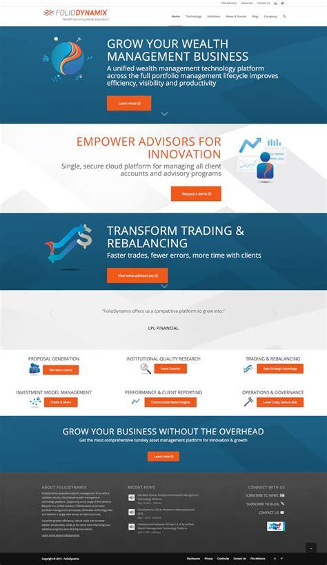 Small Home Business Website Foliodynamix Website Design