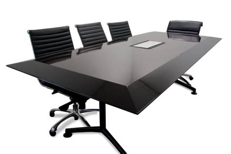 Black Boardroom Table Silhouette Custom Designed Boardroom Table