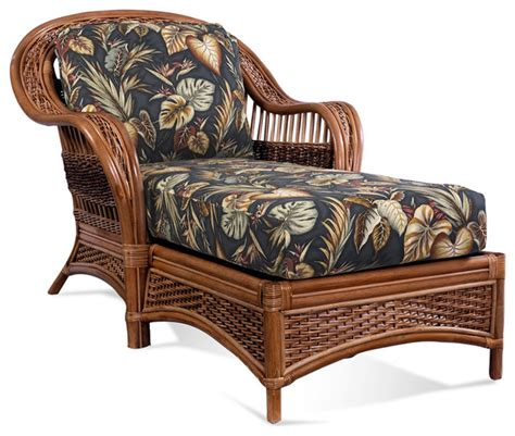 Rattan Chaise Lounge Tigre Bay Tropical Indoor