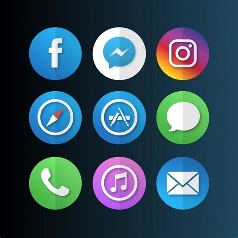 free apps for mobile mobile app icons vector free