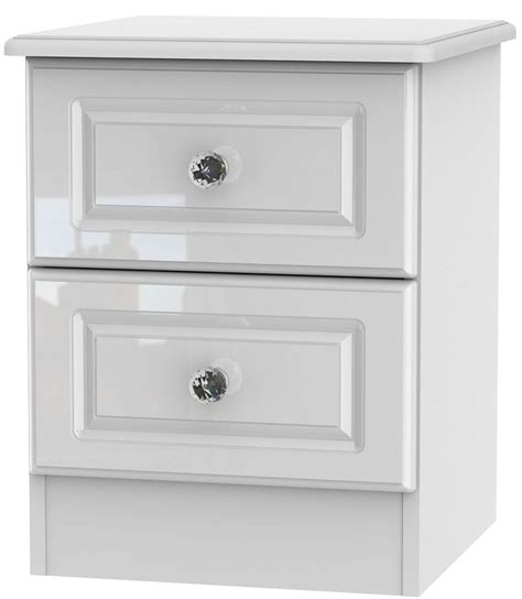 high cabinet with drawers buy balmoral white high gloss bedside cabinet 2