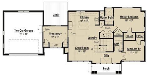 house plan with breezeway breezeway house plans country farmhouse with breezeway 3611dk 1st floor cape cod