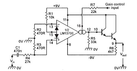 voltage controlled resistor audio op lm13700 voltage electrical engineering stack exchange
