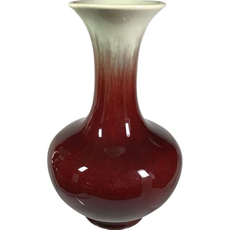 Oxblood Vase Oxblood Red Catalina Pottery Vase Why Why Not Ruby Lane